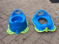 Baby potty and toilet seat aid