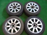 "AUDI A3, A4, A6, VW GOLF MK5, MK6, PASSAT RS4 STYLE 16"" ALLOY WHEELS 5 x 112"