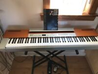 Yamaha P-120 digital piano (silver and cherry finish) - *Collection Only*