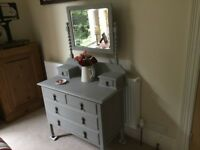 Vintage chest of drawers with mirror