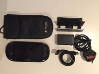 Playstation Vita, case, cradle (rare) and 16gb memory card