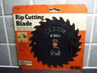 """Black & Decker 24 Teeth 7 1/4"""" 184mm x 16mm Rip Cutting Saw Blade A7566"""