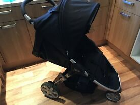 Britax b agile pram with car seat, car seat base, travel bag and cosy toes