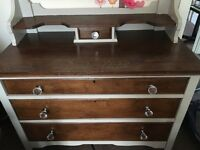 Shabby chic chest of draws , dressing table