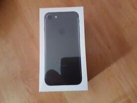128gb black iphone 7 brand new and unlocked