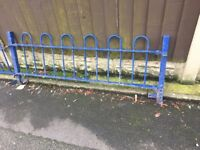 Quality Bow Tow Railings / Wall Toppers / Steel Fencing 20ft In Total / W-R