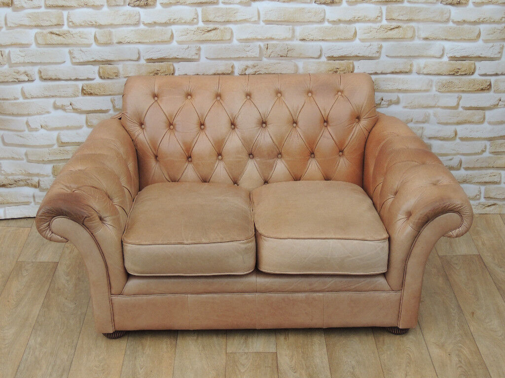 Distressed Leather Chesterfield Sofa Delivery In Eltham