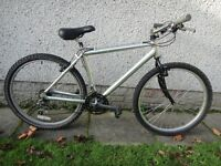 Aluminium framed bike, 26 inch wheels, 18 gears, 18 inch aluminium frame