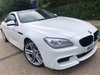 BMW 640D GRAND COUPE M SPORT 3.0 AUTOMATIC 2015 WHITE FULL BMW HISTORY MINT N...