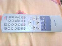 Toshiba TV remote control Toshiba VCR remote control VT-752EW