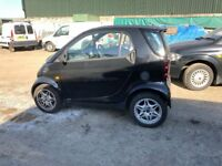 2004 Smart Car Fortwo pure 50 Semi auto coupe being sold as spares & repairs