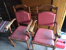 2 x carver chairs