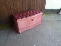 Large Ottoman Chest Trunk Delivery Available