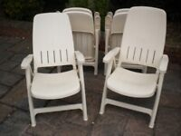 6 PATIO GARDEN RECLINING CHAIRS GOOD QUALITY VERY STRONG