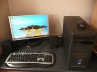 Complete computer system quad core,500GB HD,3GB Ram,keyboard,mouse,speakers