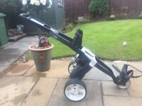 Brand new golf trolley and brolly holder