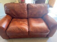 Italian soft leather two seater sofa for sale