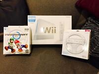 Wii with Mario Kart & 2 wheels