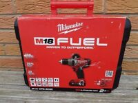 NO OFFERS..Milwaukee Fuel BRUSHLESS 18v Li-ion Combi drill, 2x2ah batts, charger,case,BRAND NEW.