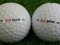 Nike RZN Black Golf Balls x 24. Pearl Condition