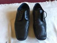 Giorgio Armani men's classic black leather shoes size 8/42 used good condition £35