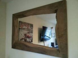 Stunning waney edge mirror massive