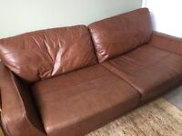Real leather sofa at a great price - REDUCED