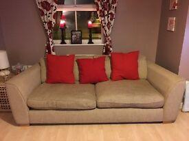 X2 large cream sofas