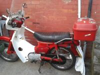 HONDA C90E Cub. chicken chaser. piza delivery bike.
