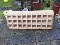 Untreated 6x2 garden Trellis