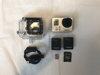 Go Pro Hero 3 camera + 2 Spare Batteries + 32gb Memory Card