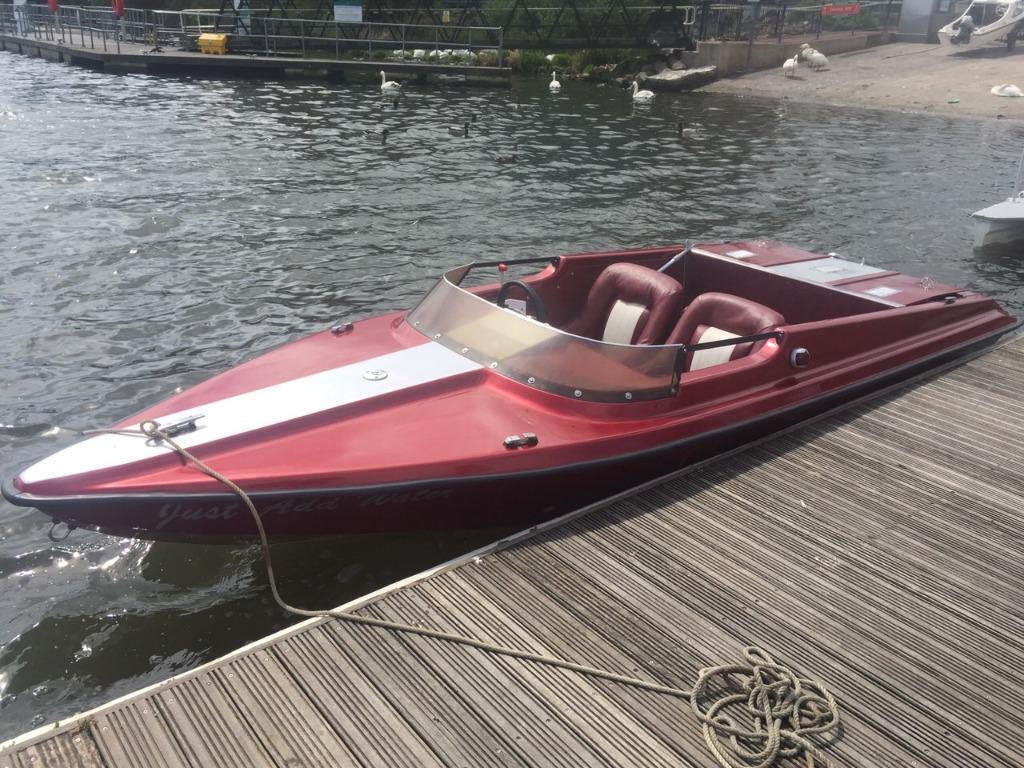 17 ft fonda jet boat v6 speedboat fast fishing in for Fishing jet boat