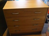 Small four drawer chest