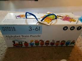 M &s alphabet train puzzle in good condition