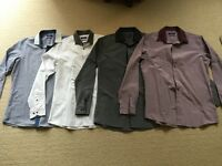 "NEXT Mens slim fit shirts x 6 - 15.5"" collar"