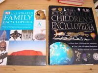 2 Hardback Books - DK Illustrated Family Encyclopedia & The Kingfisher Childrens Encyclopedia.