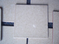 Vintage Wall tiles x 9 (15cms x 15cms) Yellow/Beige - Garage Clear Out