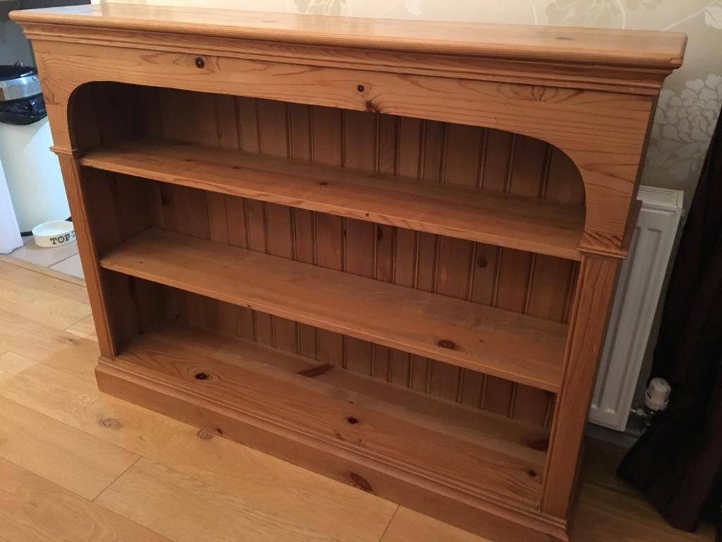 Large antique pine style bookcase possible delivery