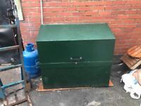 Large steel storage box