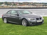 BMW 320D COUPE M-SPORT 175 BHP MODEL. COMES WITH A FULL MOT, 6 MONTHS EXTENDABLE WARRANTY.
