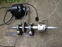 Lathe polishing vintage motor precision adjustable chuck