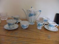 ART DECO 11 PICE COFFEE SET MADE IN ENGLAND BY MYOTT SON & CO IS IN GOOD CONDITION £70 FOR THE LOT