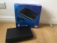 Black PlayStation 3 500g Slim Bundle, 2 controllers, 8 games