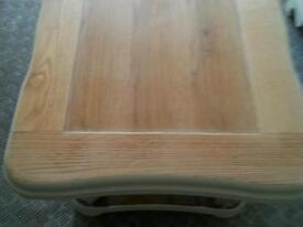 Rare to find solid oak carved coffee table