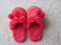 Red slippers - size 5/6