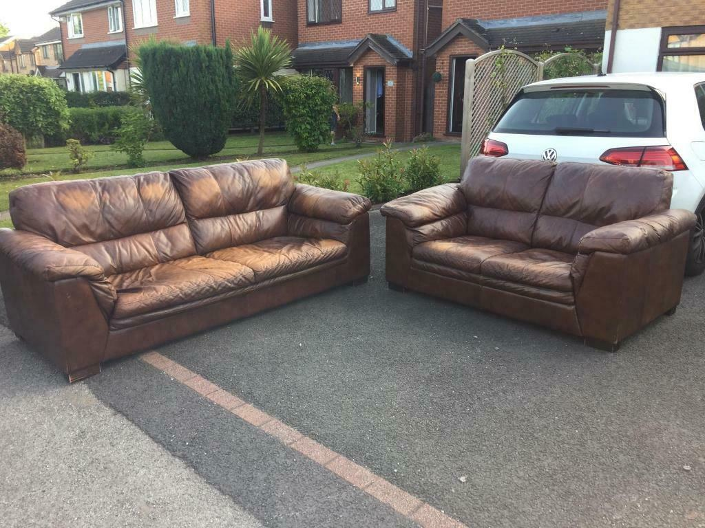 Brilliant Real Italian Leather Sofa Set 3 2 Seater Good Condition In Didsbury Manchester Gumtree Pabps2019 Chair Design Images Pabps2019Com