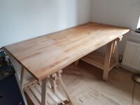 IKEA Loose topped trestle desk NOW SOLD