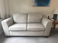 Two sofas and footstool from Marks and Spencer in excellent condition