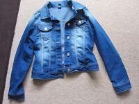 Girls Age 13-14/164cm Zara Blue Denim Jacket