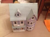 Children's wooden dollhouse handmade